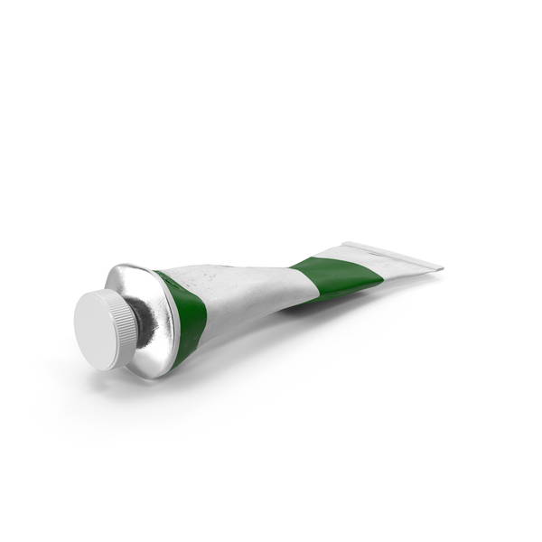 Green Acrylic Paint Tube PNG & PSD Images
