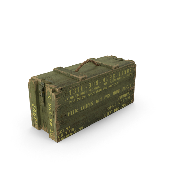 Ammunition Box: Green Ammo Crate PNG & PSD Images