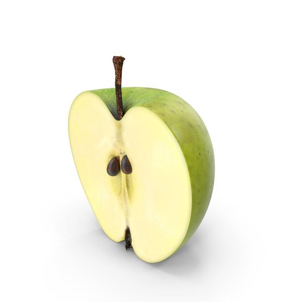 Green Apple Half Cut PNG & PSD Images