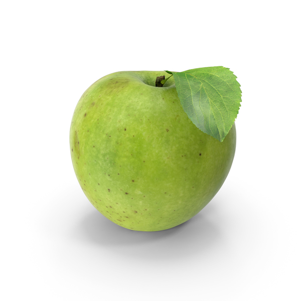 Green Apple With Leaf PNG & PSD Images