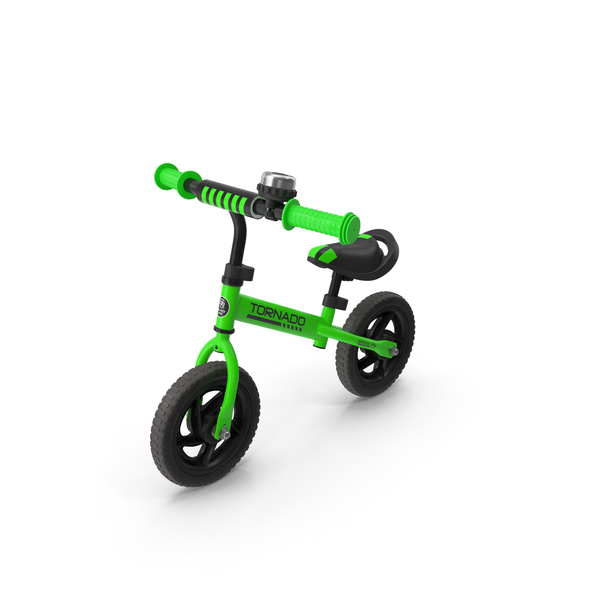 Child: Green Balance Bike PNG & PSD Images