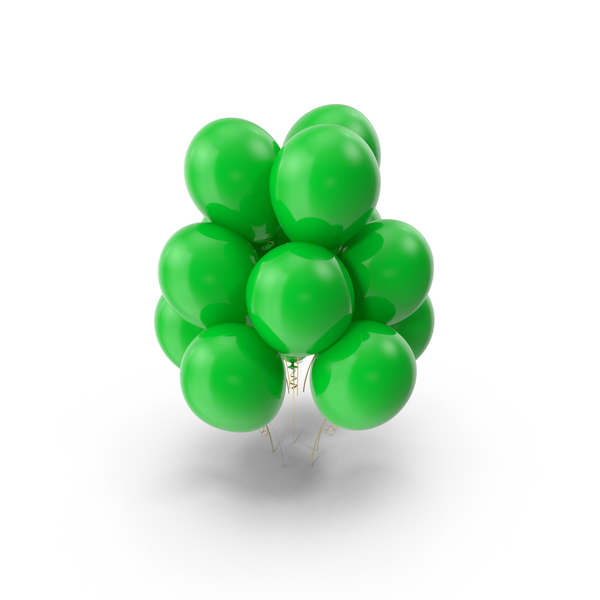 Green Balloons PNG & PSD Images