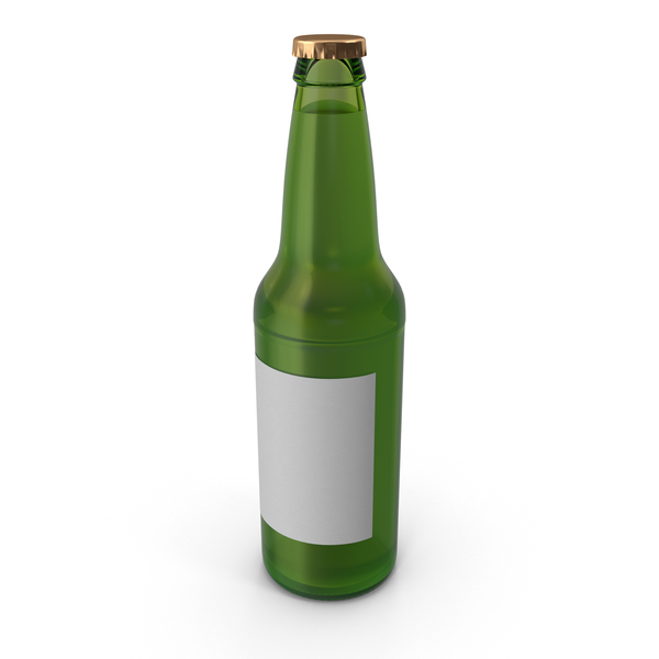 Green Beer Bottle Object