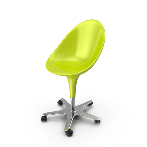 Office: Green Bombo Chair With Wheels PNG & PSD Images