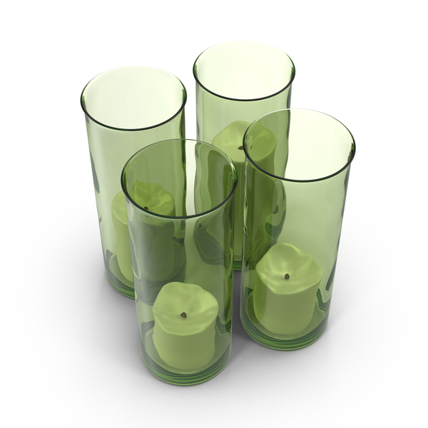 Green Candlestick Holder PNG & PSD Images
