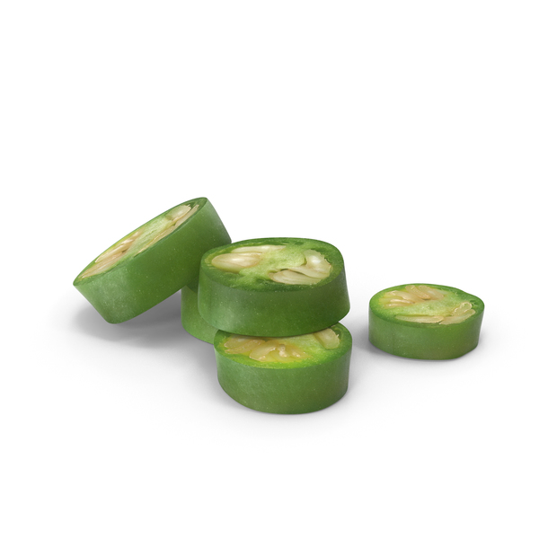 Green Chilli Slice PNG & PSD Images