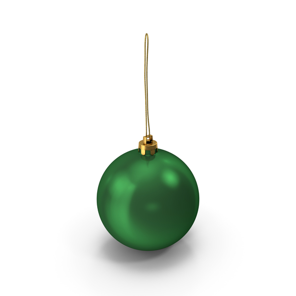 Green Christmas Ball Ornament PNG & PSD Images