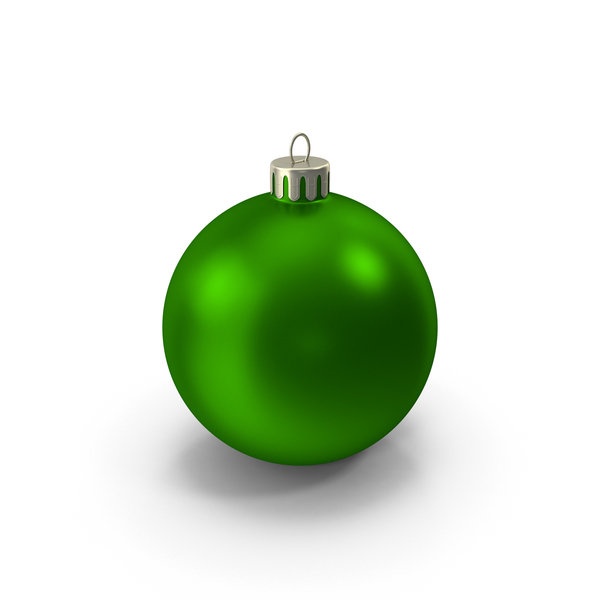 Green Christmas Ornament PNG & PSD Images