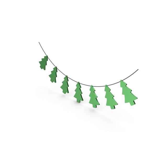Green Christmas Tree Garland PNG & PSD Images