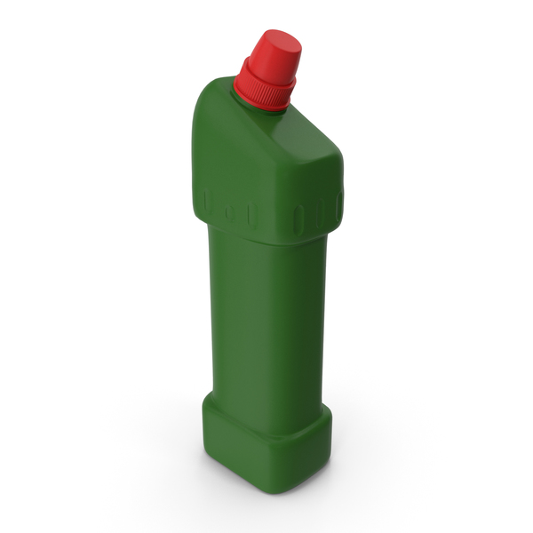 Green Cleaning Product Bottle with Red Cap PNG & PSD Images