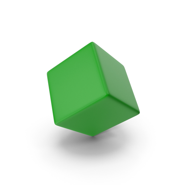 Green Cube PNG & PSD Images