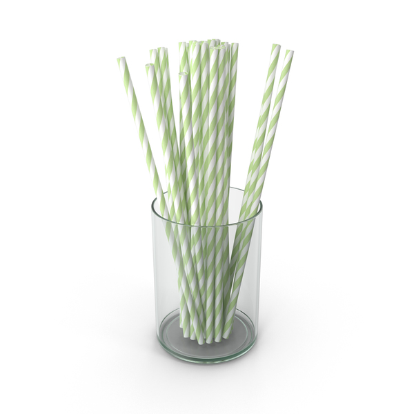 Green Drinking Straws PNG & PSD Images