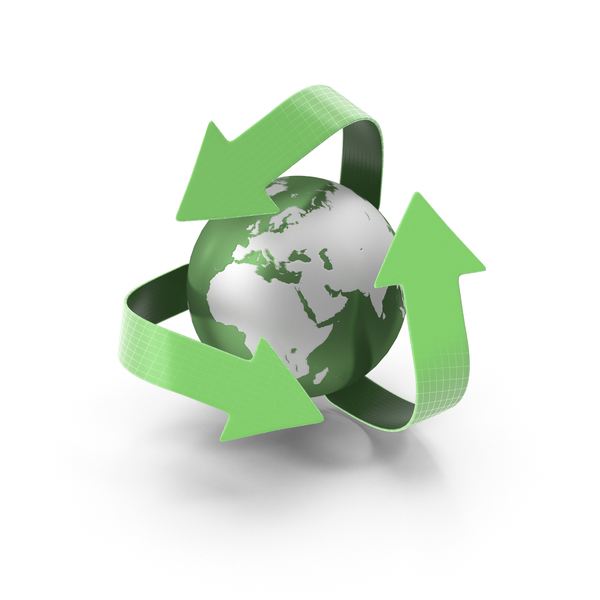 Green Earth Recycle PNG & PSD Images