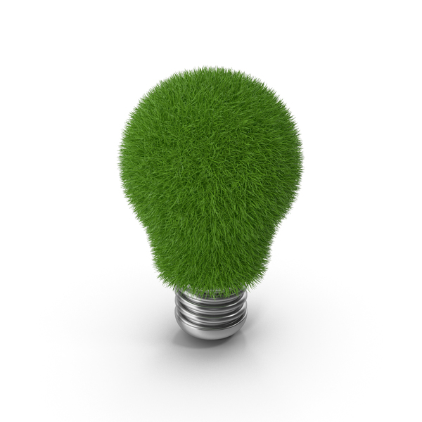 Green Energy Bulb Symbol PNG & PSD Images