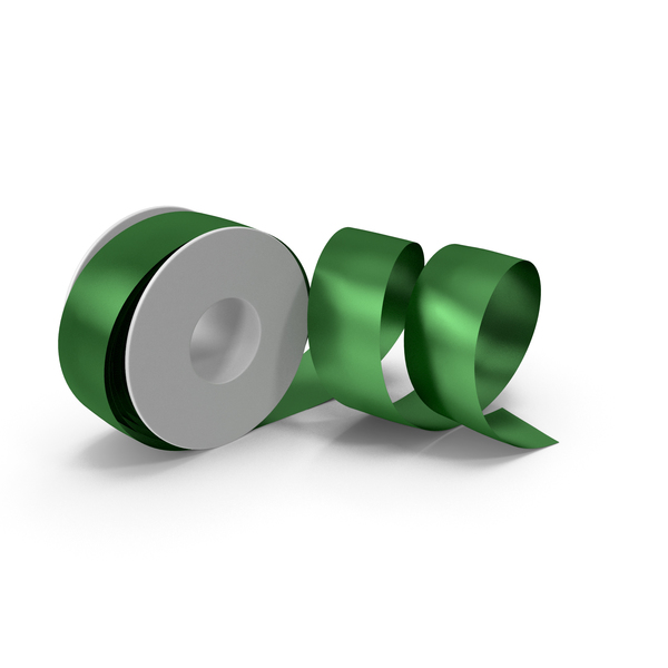 Green Foil Ribbon Spool PNG & PSD Images