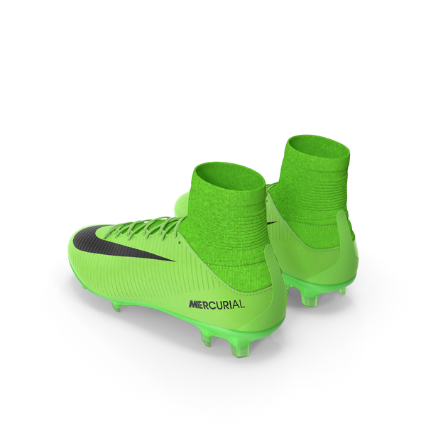 Green Football Cleats Nike Mercurial Veloce PNG & PSD Images