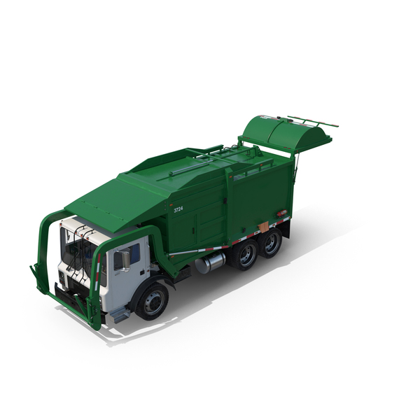 Green Garbage Truck Object
