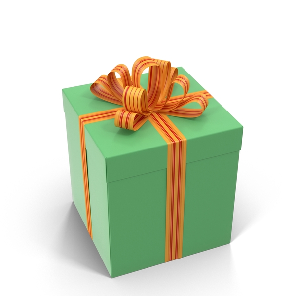 Green Gift Box PNG & PSD Images