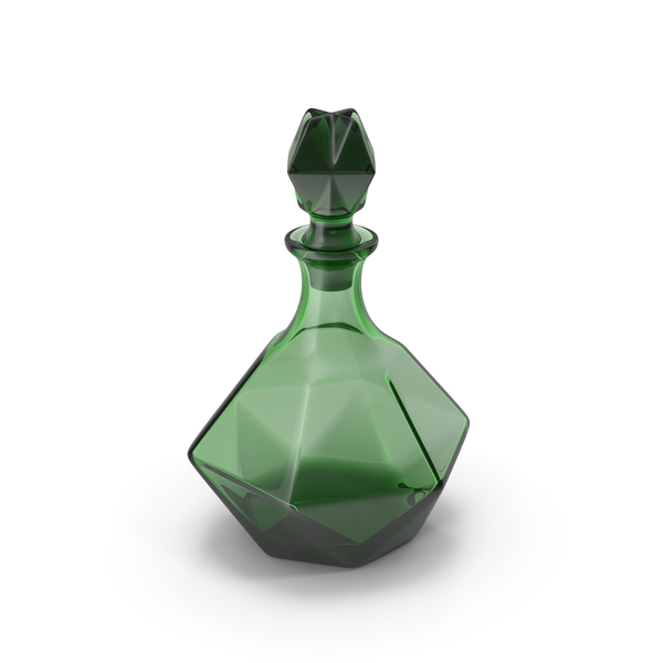 Green Glass Decanter PNG & PSD Images