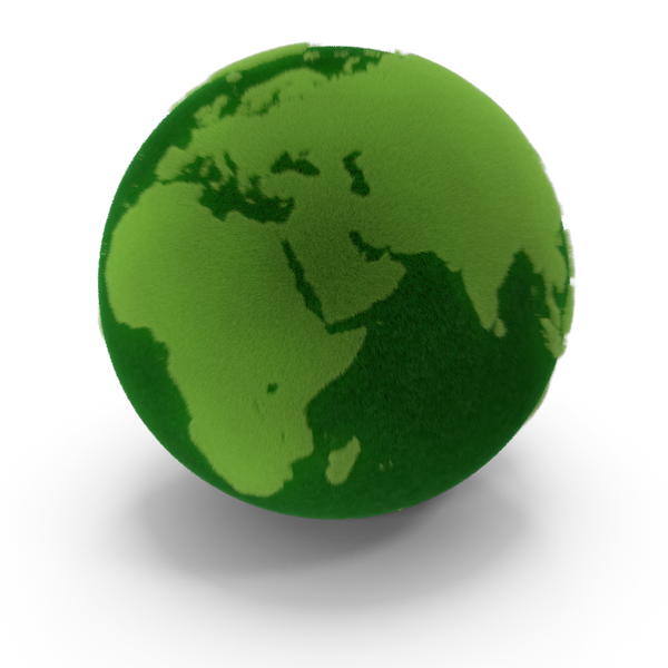 Globe: Green Grassy Earth PNG & PSD Images