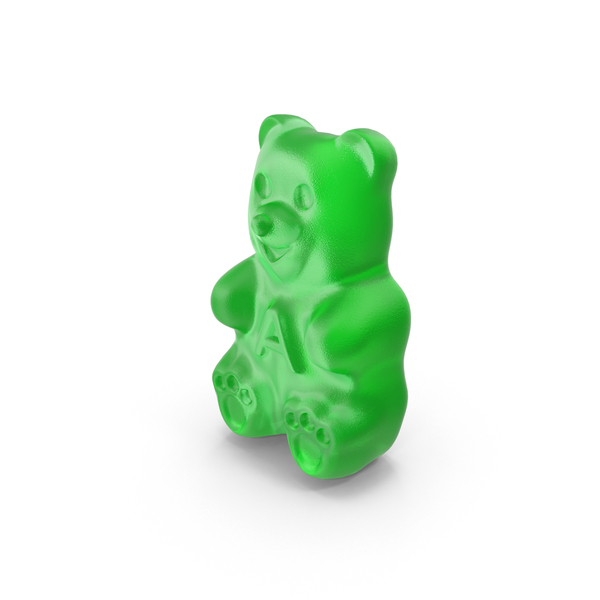 Green Gummy Bear PNG & PSD Images