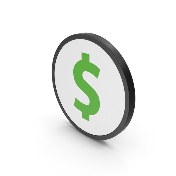 Currency Symbols: Green Icon Dollar PNG & PSD Images