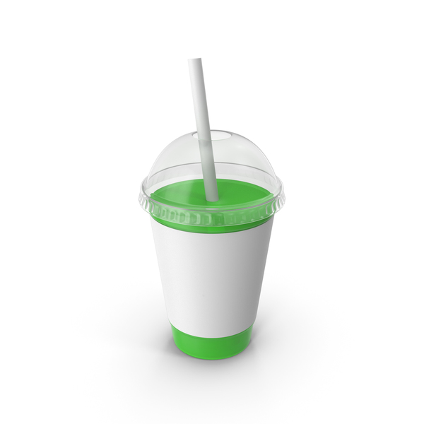 Green Juice Plastic Cup PNG & PSD Images