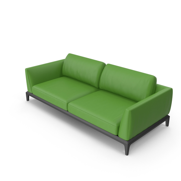 Green Leather Office Sofa PNG & PSD Images