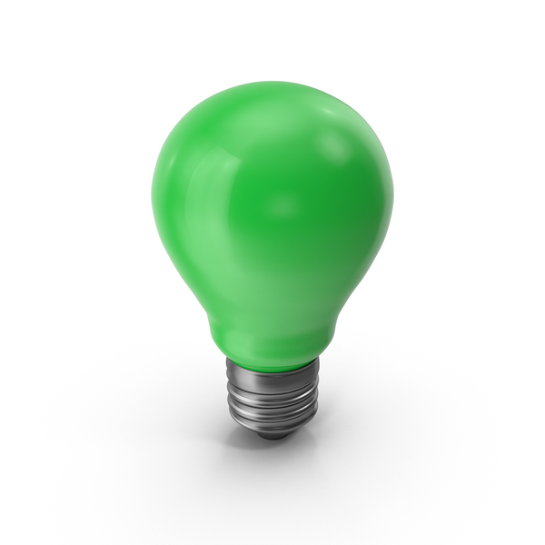 Green  Light Bulb PNG & PSD Images