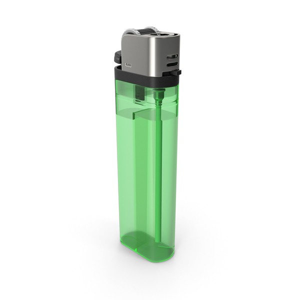 Disposable: Green Lighter PNG & PSD Images