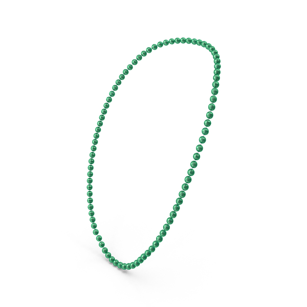 Green Mardi Gras Beads PNG & PSD Images
