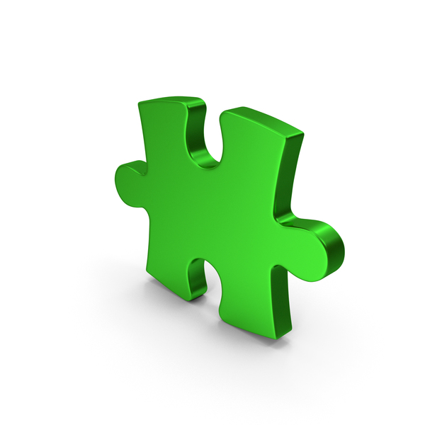 Jigsaw: Green Metallic Puzzle PNG & PSD Images