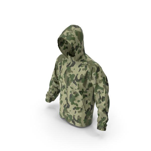 Green Military Jacket Hood PNG & PSD Images