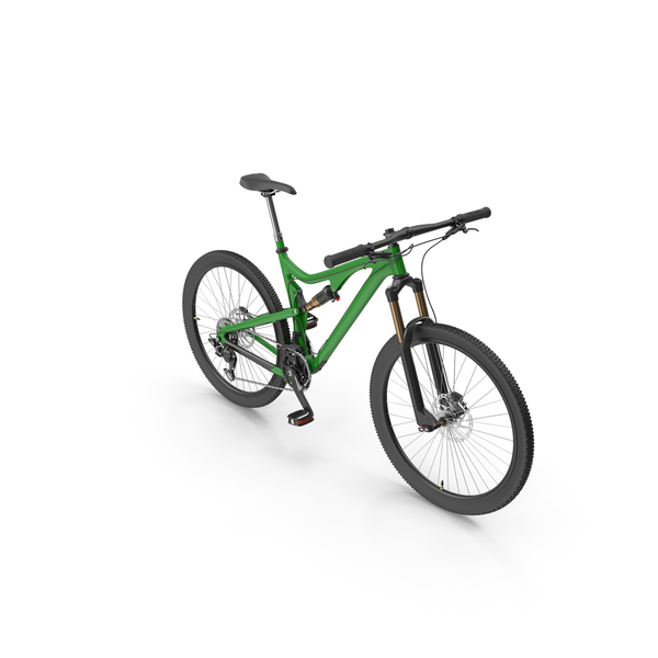 Bicycle: Green Mountain Bike PNG & PSD Images