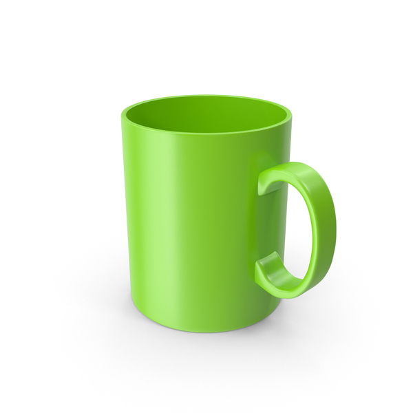 Coffee Cup: Green Mug PNG & PSD Images