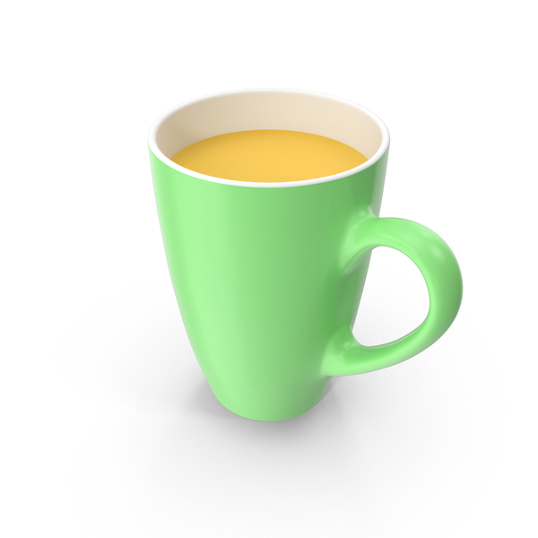 Green Mug With Orange Juice PNG & PSD Images