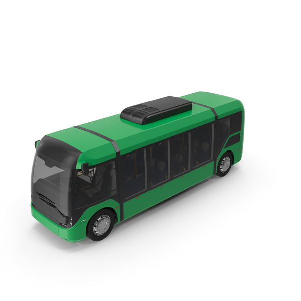 Green No Logo Vero E Bus PNG & PSD Images