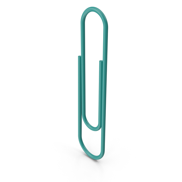 Green Paper Clip PNG & PSD Images