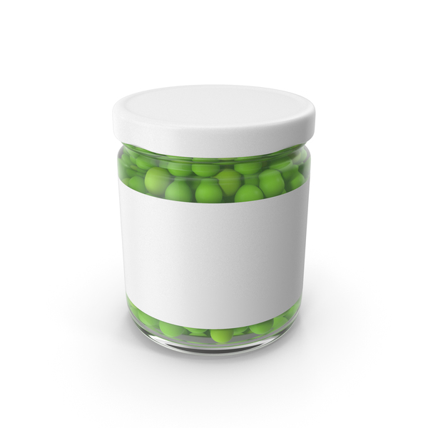 Green Peas Jar PNG & PSD Images