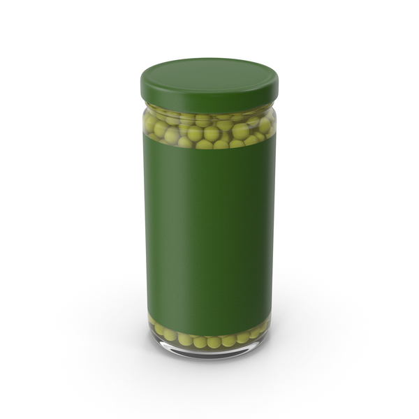 Green Peas Jar With Label PNG & PSD Images