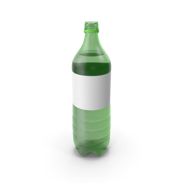 Green Plastic Bottle No Cap PNG & PSD Images