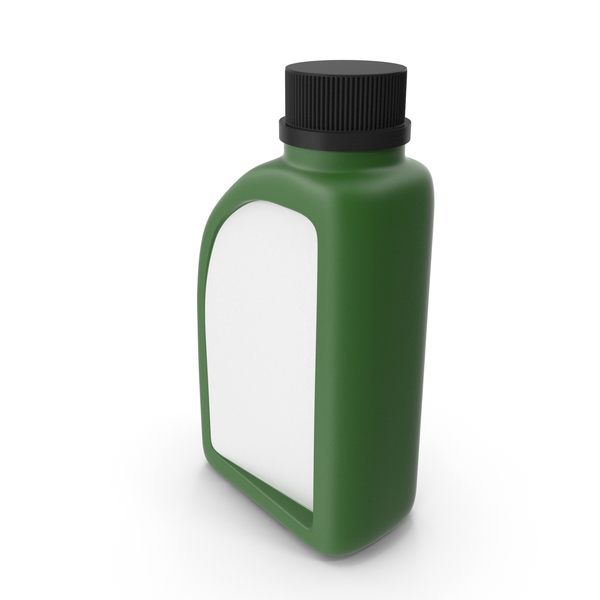Fuel Can: Green Plastic Jerrycan with Black Cap and Logo PNG & PSD Images