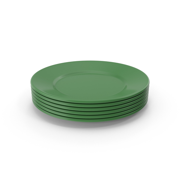 Green Plate Stack PNG & PSD Images