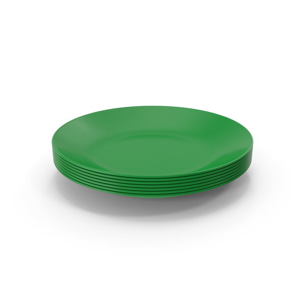 Green Plates Stack PNG & PSD Images