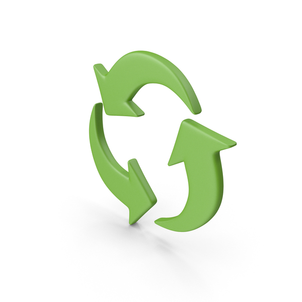 Green Recycle Symbol PNG & PSD Images