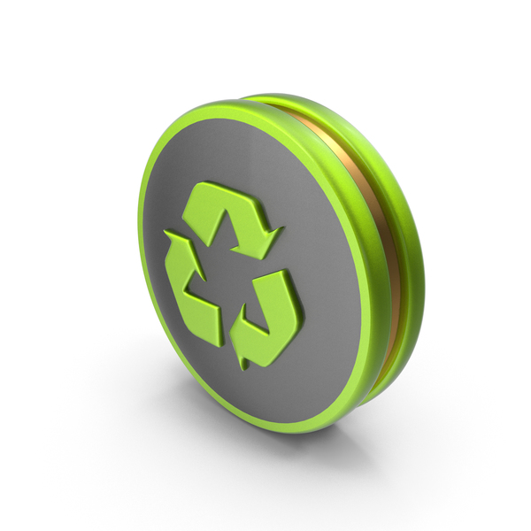 Green Recycling Icon PNG & PSD Images