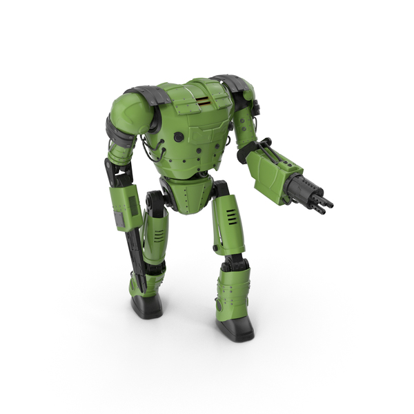 Green Robot PNG & PSD Images