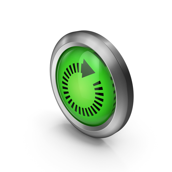 Green Round Arrow Symbol PNG & PSD Images