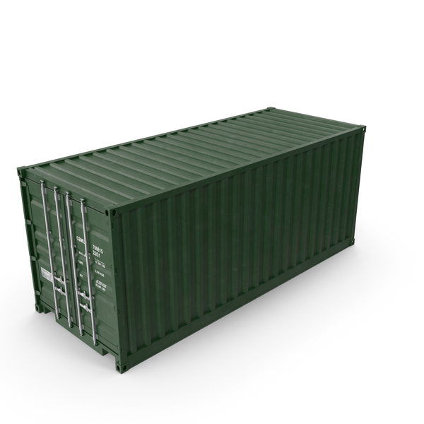Green Shipping Container PNG & PSD Images