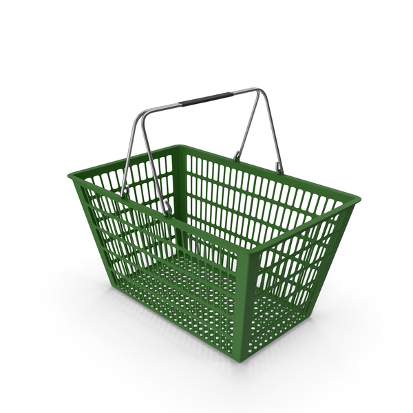 Green Shopping Basket PNG & PSD Images